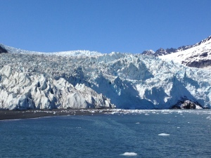 This glacier is actively calving, or as actively as glaciers do anything.