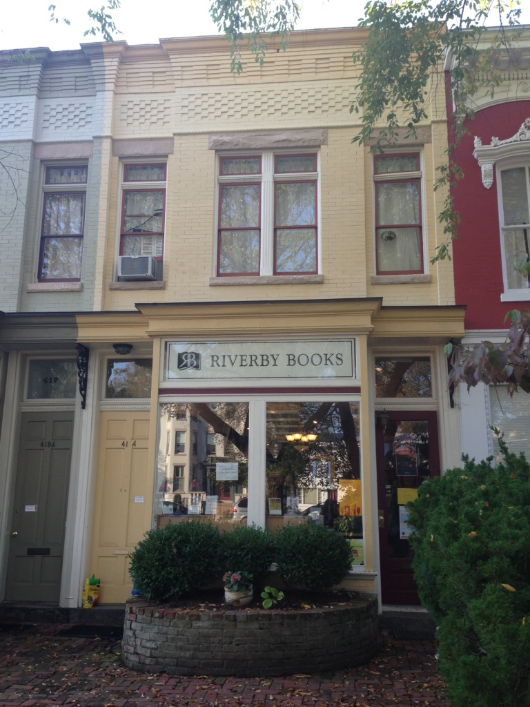 The coolest little bookstore in DC (and I'm not just saying that because they're selling my book…)