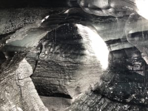 Inside the ice caves (nope, this isn't a black-and-white pic)